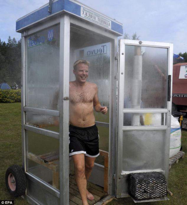 phone booth sauna