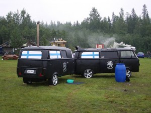 VW sauna & trailer at Teuva