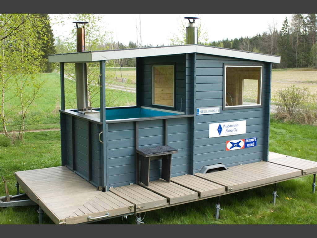 Sauna and Hot tub trailer