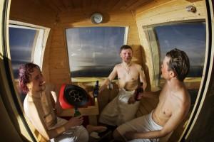 sauna gondola inside