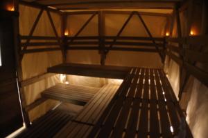 Sauna tent interior