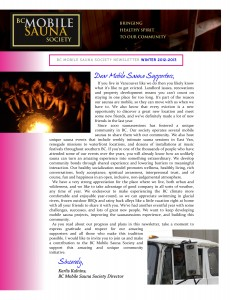 Winter 2012/2013 Newsletter