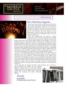 Winter 2012/2013 Newsletter
