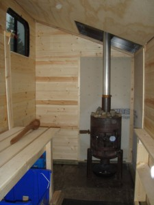 Interior with custom stove