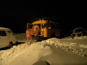 Snow sauna in Ilmandu, Estonia