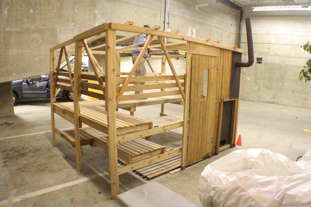Sauna tent framework