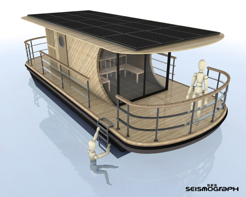 Seismograph solar powered sauna design