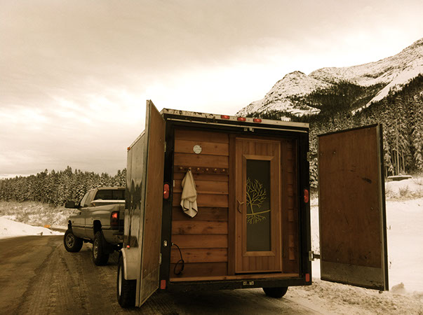 sauna stoke trailer in Revelstoke BC